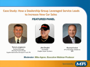 Industry Sector Automotive - Case Study: How a Dealership Group Leveraged Service Leads to Increase New Car Sales