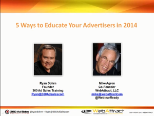 5 ways to Educate Your Advertisers in 2014