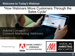Industry Sector Content Marketing - How Webinars Move Customers Through the Sales Cycle