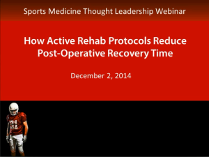 Industry Sector Healthcare Life Sciences - How Active Rehab Protocols Reduce Post-Operative Recovery Time