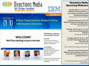 Police Departments Reduce Crime with Spatial Analytics