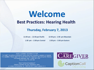 Best Practices: Hearing Health
