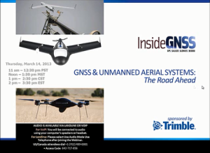 GNSS & Unmanned Aerial Systems: The Road Ahead