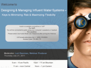 Managing Risks in Influent Water Systems in Industrial Facilities