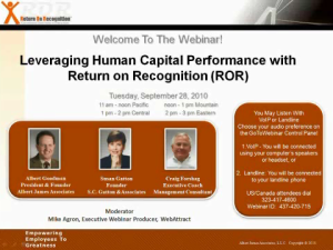 Leveraging Human Capital Performance with ROR