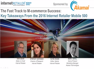 Industry Sector Retail Restaurants - The Fast Track to M-commerce Success Internet Retailer