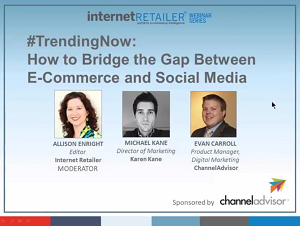 Industry Sector Retail Restaurants - #TrendingNow_ How to Bridge the Gap Between E Commerce & Social Media Webinar