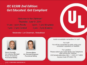 IEC 61508 2nd Edition: Get Educated. Get Compliant