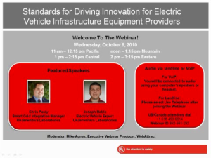 Industry Sector Compliance & Standards - Discussing Standards Impacting Electric Vehicle Infrastructure Equipment
