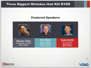 Three Biggest Mistakes that Kill BYOD
