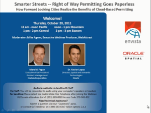 Smarter Streets Right-of-Way Permitting Goes Paperless: How forward looking cities realize the benefits of cloud-based permitting